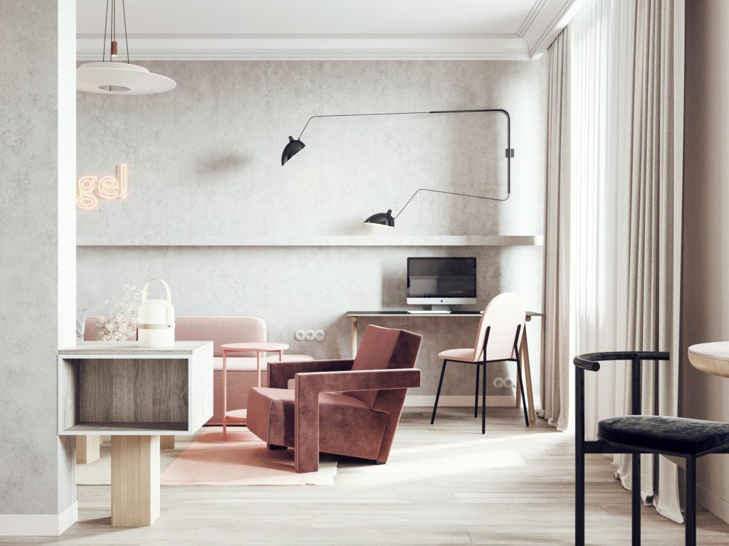 дизайн интерьера квартиры в ЖК Галактика