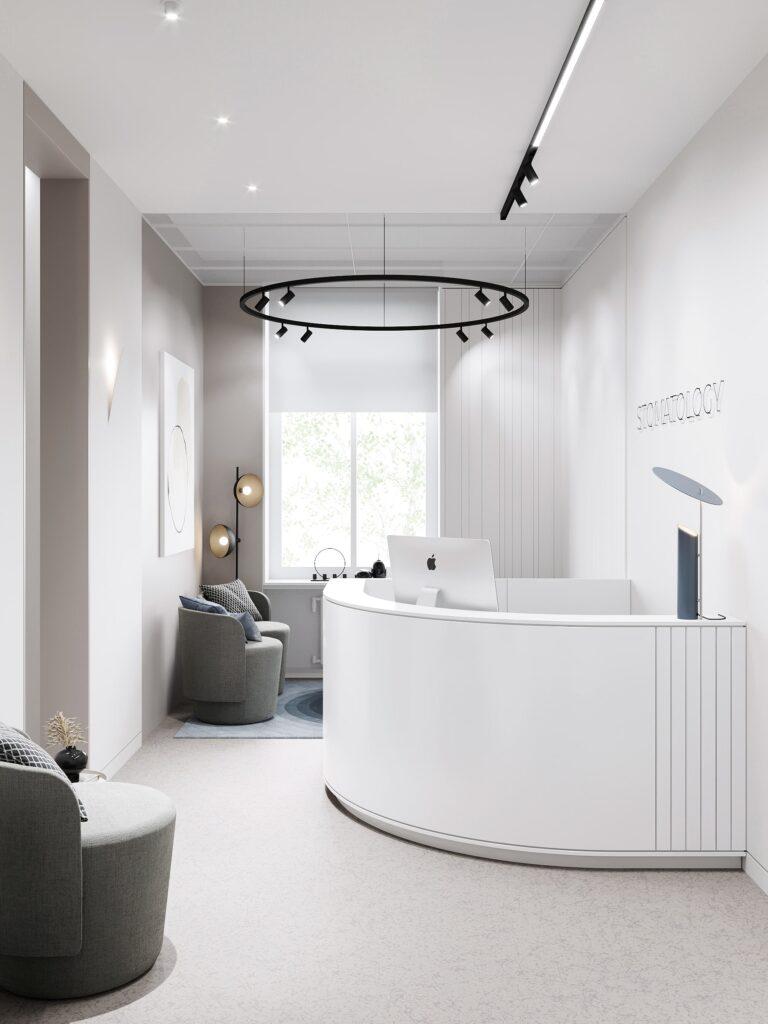 дизайн ресепшн стоматологической клиники